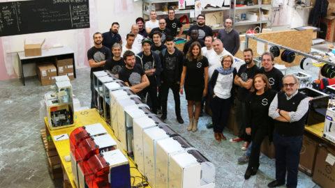 Foto di gruppo Sharebot stampanti 3D Sharebot Monza